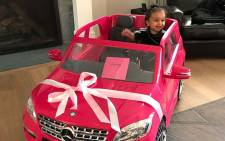 A screengrab of Rob Kardashian's daughter, Dream, who turned 1.