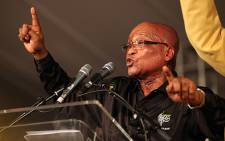 ANC president Jacob Zuma gives his closing address at the party's Mangaung conference on 20 December 2012. Picture: Taurai Maduna/EWN