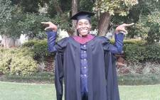 Caster Semenya poses after graduating at the North West University. Picture: @caster800m/Twitter