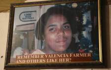 Valencia Farmer was raped and murdered in Eerste River in 1999. Picture: Cindy Archillies/EWN.