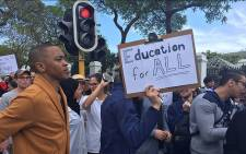 FILE: Students protest at Parliament in Cape Town for free education on 22 September 2016. Picture: EWN.