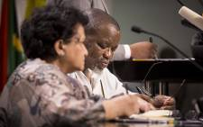 ANC Secretary-General Gwede Mantashe listens during a briefing at Luthuli house on 5 April 2017 in Johannesburg following the ANC NWC meeting after President Jacob Zuma's cabinet reshuffle. Picture: Reinart Toerien/EWN