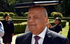 Finance Minister Pravin Gordhan after the budget speech outside Tuynhuis Presidential Guesthouse. Picture: GCIS