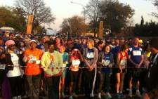 Thousands gather for the 15 km race at the 2011 Discovery 702 Walk the Talk at Marks Park in Johannesburg on 24 July 2011.Picture:Marc Lewis/EWN