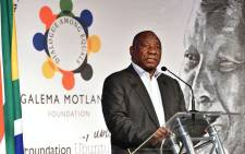 "President Cyril Ramaphosa speaks at the inaugural ""Inclusive Growth Conference"" in the Drakensberg organised by former President Kgalema Motlanthe's foundation on 15 June 2018. Picture: Twitter/@PresidencyZA."