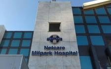 The Netcare Hospital in Milpark, Johannesburg. Picture: Refilwe Thobega/EWN