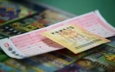 A Powerball ticket. Picture: AFP.