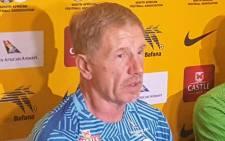 Bafana Bafana coach Stuart Baxter. Picture: @SAFA_net/Twitter