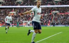 Tottenham Hotspur forward Harry Kane celebrates a goal. Picture: @SpursOfficial/Twitter