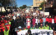 The UniteBehind people's march moves through the Cape Town CBD in a march to put pressure on MPs to oust President Jacob Zuma. Picture: Shameila Fisher/EWN
