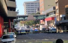 The scene of yet another suspected explosive device that was found at a Woolworths store in the Durban CBD on 19 July 2018. Picture: Supplied.