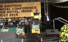 President Cyril Ramaphosa addresses Gauteng ANC elective conference. Picture: Qaanitah Hunter/EWN.