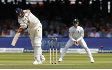 England's Captain Joe Root hits a shot during the first day of the first Test match between England and South Africa at Lord's Cricket Ground on 6 July 2017. Picture: AFP.