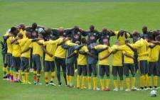 FILE: Bafana Bafana ahead of their Africa Cup of Nations (Afcon) clash with Senegal on 23 January 2015. Picture: Twitter @BafanaBafana.