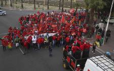 FILE: The Cosatu union members on a march. Picture: Cindy Archillies/EWN