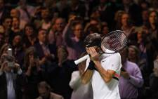 Roger Federer reacts after beating Dutchman Robin Haase to reach the semi-finals in Rotterdam. Picture: @ATPWorldTour/Twitter.