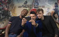 Entertainment reporter Lee-Roy Wright chats to the cast of 'The Amazing Spiderman 2'. Picture: CNN screengrab