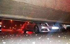 Five people have been injured after a pedestrian bridge collapsed along the N3 Geldenhuys Interchange. Picture: Netcare911