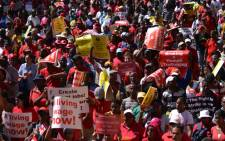 A Cosatu march that was held in Cape Town