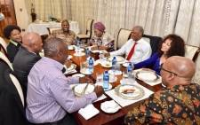 FILE: President Jacob Zuma sits for dinner with all presidential candidates. Picture: GCIS.