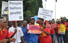Protesters against Eskom's price hike outside Gallagher Estate in Midrand on 30 January 2013. Picture: Lesego Ngobeni/EWN