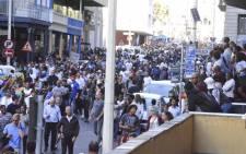Protesters disperse following the Anti Zuma March in Cape Town. Picture: Imran Goga/EWN