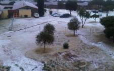 Heavy hail fell in Johannesburg on 15 August 2011. Picture: iWitness