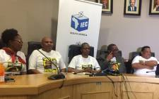Inkatha Freedom Party holding a press conference in Nquthu following their by-election victory. Picture: Ziyanda Ngcobo/EWN.