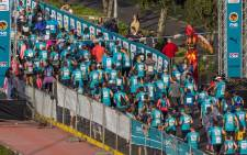 A general picture of athletes participating in the FNB One Run event in 2017. Picture: @PUMASouthAfrica/Twitter.