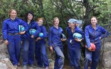 6 petite 'underground astronauts' had to squeeze through an 18cm gap to gain access to the fossil site deep underground.