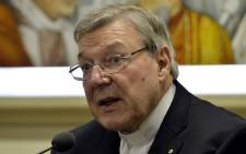FILE: Australian Cardinal George Pell, Prefect of the Secretariat for the Economy of the Holy See. Picture: AFP