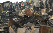 30 people were left homeless after a fire ripped through the Pholile Informal Settlement. Picture: Eyewitness News