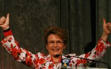 Democratic Alliance leader Hellen Zille addresses delegates at the national convention in Sandton convened by former defence minister Mosiuoa Lekota and former Gauteng Premier Mbhazima Shilowa on 1 November 2008. Picture: Taurai Maduna/Eyewitness News