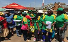 Parents, activists and some political parties gathered outside Lenasia magistrate court in support of the Soweto primary school girls who were allegedly sexually assaulted by a 57-year-old school patroller. Picture: Ziyanda Yono/EWN