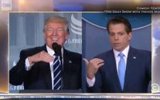 Trevor Noah talks similarities between Scaramucci and Trump. Picture: screengrab/CNN