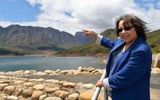 Cape Town Mayor Patricia de Lille visiting Wemmershoek Dam. Picture: Facebook.com.