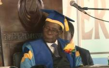A screengrab of Zimbabwean President Robert Mugabe at a graduation ceremony - his first public appearance since a military takeover  Picture: Youtube/Al Jazeera Live