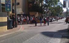 Hundreds of people gathered at the Sandton Convention Centre for Idols auditions on 23 March 2013. Picture: Seabelo Modise/EWN