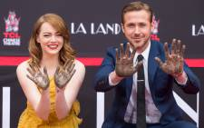 'La La Land' actors Emma Stone and Ryan Gosling attend their hand and footprint ceremony at TCL Chinese Theatre IMAX in California. Picture: AFP.