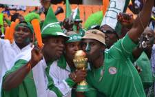 Nigerian supporters celebrating their Afcon victory