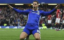 FILE: Chelsea forward Eden Hazard celebrates a goal. Picture: AFP
