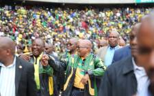 President Jacob Zuma and Deputy President Cyril Ramaphosa. Picture: Christa Eybers/EWN.