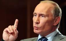 FILE: Russian President Vladimir Putin. Picture: AFP.