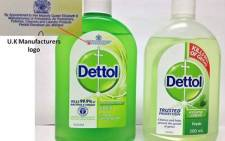 The Dettol product that has been recalled (L) and the one that is safe to use (R). Picture: Facebook