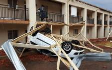 The Wedge complex in Honeydew was destroyed by a massive hailstorm that hit Gauteng on 9 October 2017.  Picture: Louise McAullife/EWN