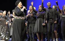 Several artists, including Rebecca Molope, Sibongile Khumalo, Zahara, Oliver Mtukudzi, Napo Masheane, Thami Mdluli, Soweto String Quartet, performed at the State Theatre in honour of Winnie Madikizela-Mandela's life, on Friday 13 April 2018. Picture: Louise McAuliffe/EWN.