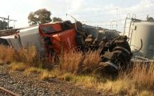Two trains collided at a station in Brakpan on Gauteng's East Rand on 21 May 2013. Picture: iWitness
