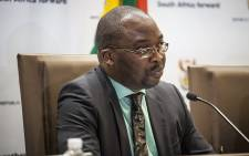 FILE: Justice Minister Michael Masutha addresses the media at the GCIS head office in Pretoria on 21 October 2016 to confirm South Africa's decision to withdraw from the International Criminal Court. Picture: EWN
