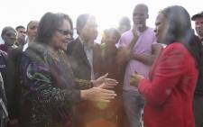Cape Town Mayor Patricia de Lille visits Masiphumelele with Public Protector Busisiwe Mkhwebane to inspect and report on the work that the City of Cape Town is undertaking in the area. Picture: Cindy Archillies/EWN