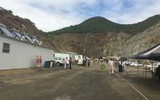 FILE. The dirt road leading to the area where the collapse happened at the Lily mine near Barberton, Mpumalanga. Picture: Govan Whittles/EWN.